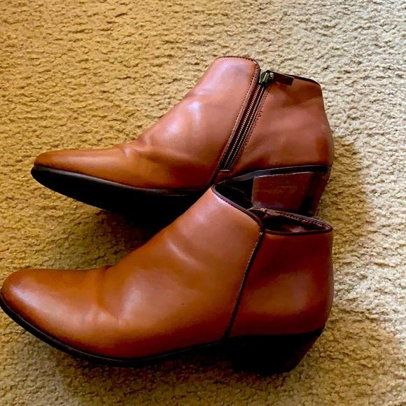 Cognac Brown Booties